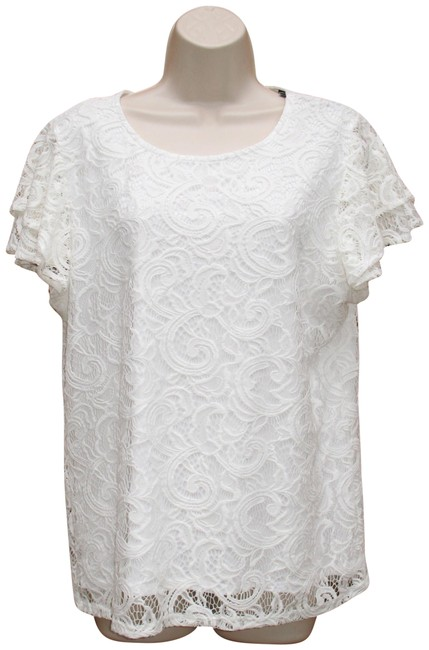 Preload https://img-static.tradesy.com/item/23418019/adrianna-papell-white-flutter-sleeve-lace-blouse-size-16-xl-plus-0x-0-1-650-650.jpg
