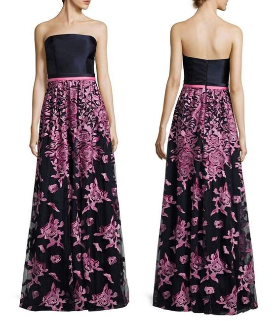 Preload https://img-static.tradesy.com/item/23418036/david-meister-pink-navy-floral-embroidered-strapless-gown-long-formal-dress-size-12-l-0-1-650-650.jpg