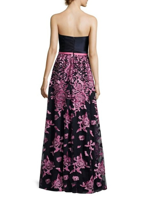 David Meister Embroidered Evening Strapless Dress