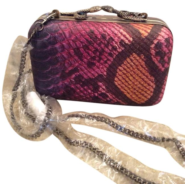 Item - Marly Reptile Print Multi Leather Clutch