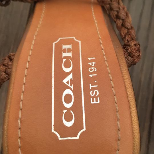 Coach 1941 copper and woven raffia Wedges