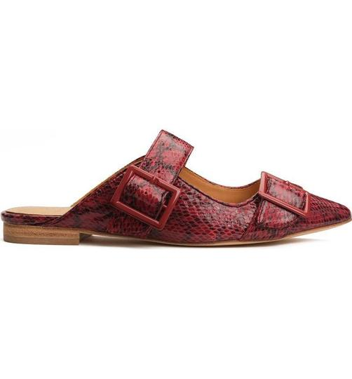 Anthropologie Burgundy Mules