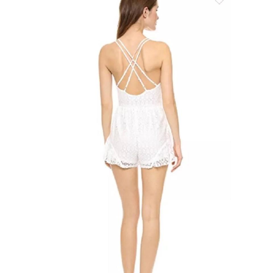 a1071529e8 Reverse White Playsuit Lace Boho Summer Romper Jumpsuit - Tradesy