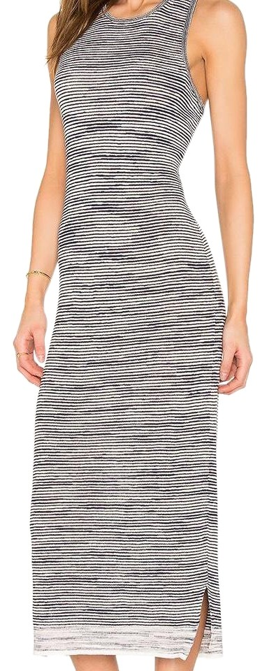 a83c13fd82 Theory Intrella Space Dye Striped Linen Mid-length Casual Maxi Dress ...