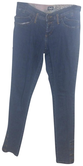 Item - Blue Medium Wash W D&g W/ Buttons Skinny Jeans Size 6 (S, 28)