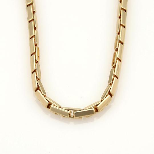 Cartier Agrafe 18k Yellow Gold Front Clasp Long Box Link Necklace Paper