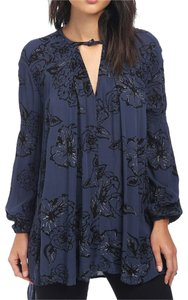 Free People Longsleeve Floral Embroidered Print Tunic
