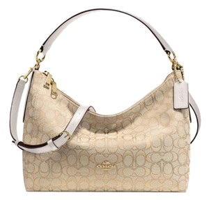 Coach Signature Canvas Crossbody Hobo Bag
