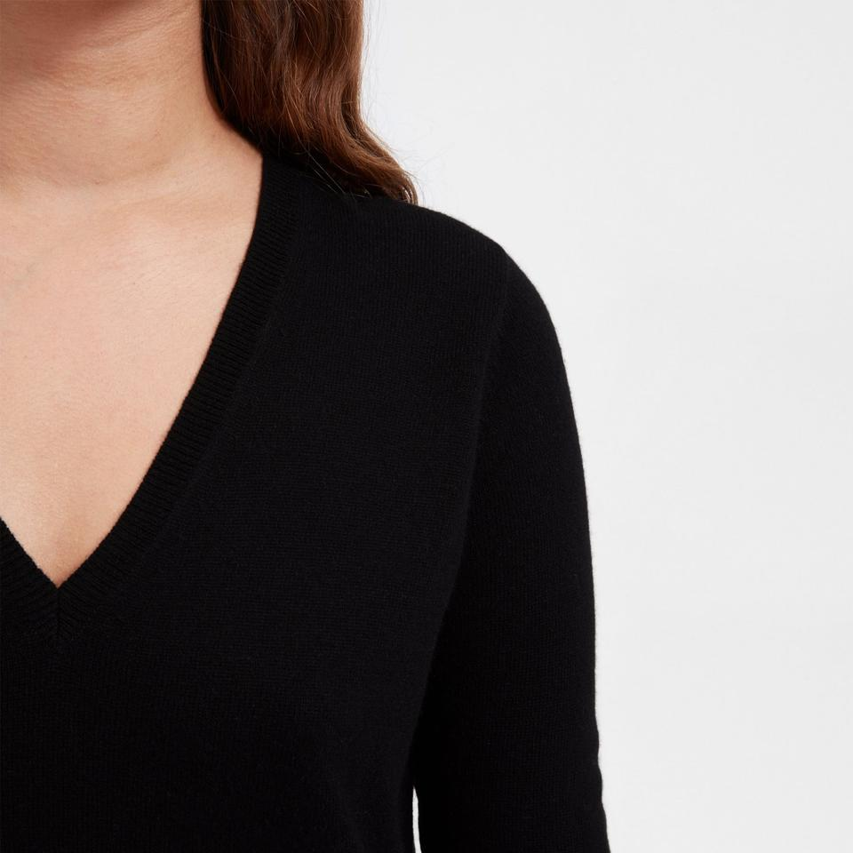 047f7a2a57c Everlane Black Cashmere V-neck Midi Medium Mid-length Work Office Dress  Size 8 (M) - Tradesy