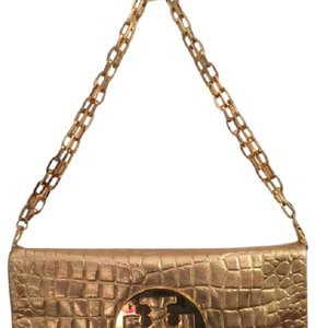 Tory Burch gold embossed Clutch