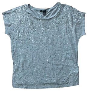 DKNY T Shirt Gray with sequins