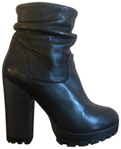 Steve Madden Motorcycle Combatboots Rocker Black Leather Boots