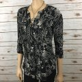 Anthropologie Black Maeve Pintuck Wild Bird Blouse Button-down Top Size 2 (XS) Anthropologie Black Maeve Pintuck Wild Bird Blouse Button-down Top Size 2 (XS) Image 2