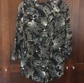 Anthropologie Black Maeve Pintuck Wild Bird Blouse Button-down Top Size 2 (XS) Anthropologie Black Maeve Pintuck Wild Bird Blouse Button-down Top Size 2 (XS) Image 9