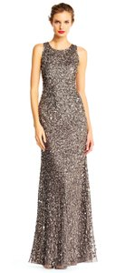 Adrianna Papell Beaded Sequin Embellished Dress