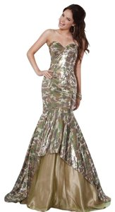 JOVANI Prom Mermaid Camoflage Sequin Dress