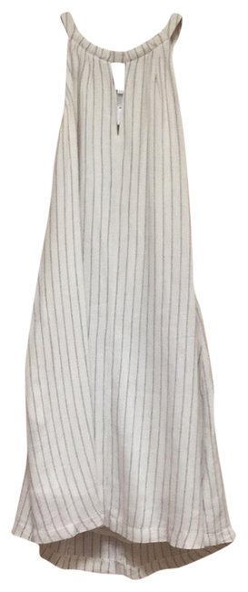 Item - White and Black Pinstripe Mid-length Night Out Dress Size 2 (XS)