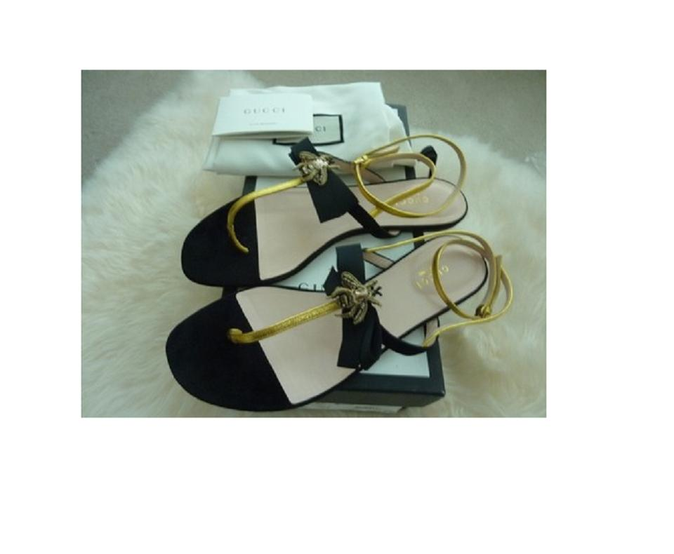 Gucci black gold ladies moody bee bow b nero oro italy