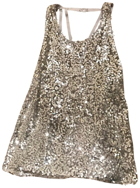 Item - Sequin Halter Silver Top