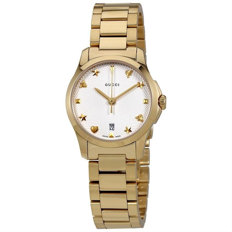 Gucci Silver Gold Tone G,timeless Dial Ladies Watch