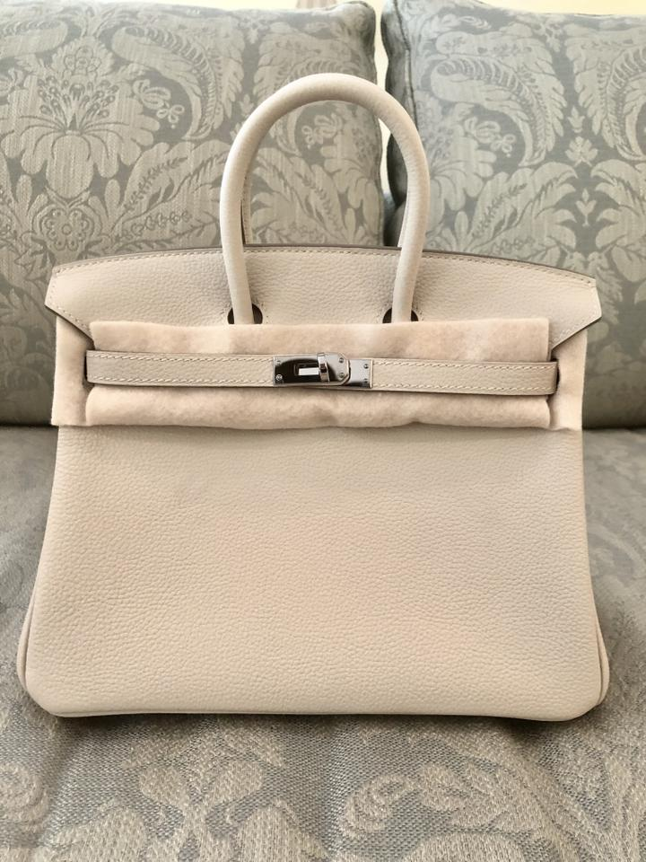 Hermès Birkin 25 Palladium Hardware From 2018 Craie Togo Leather Tote 73aecc7198abe