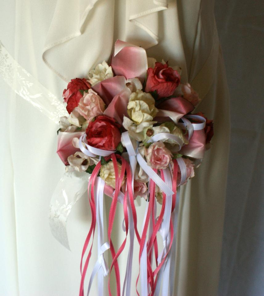 Pink And White Miniature Silk Nosegay Tradesy
