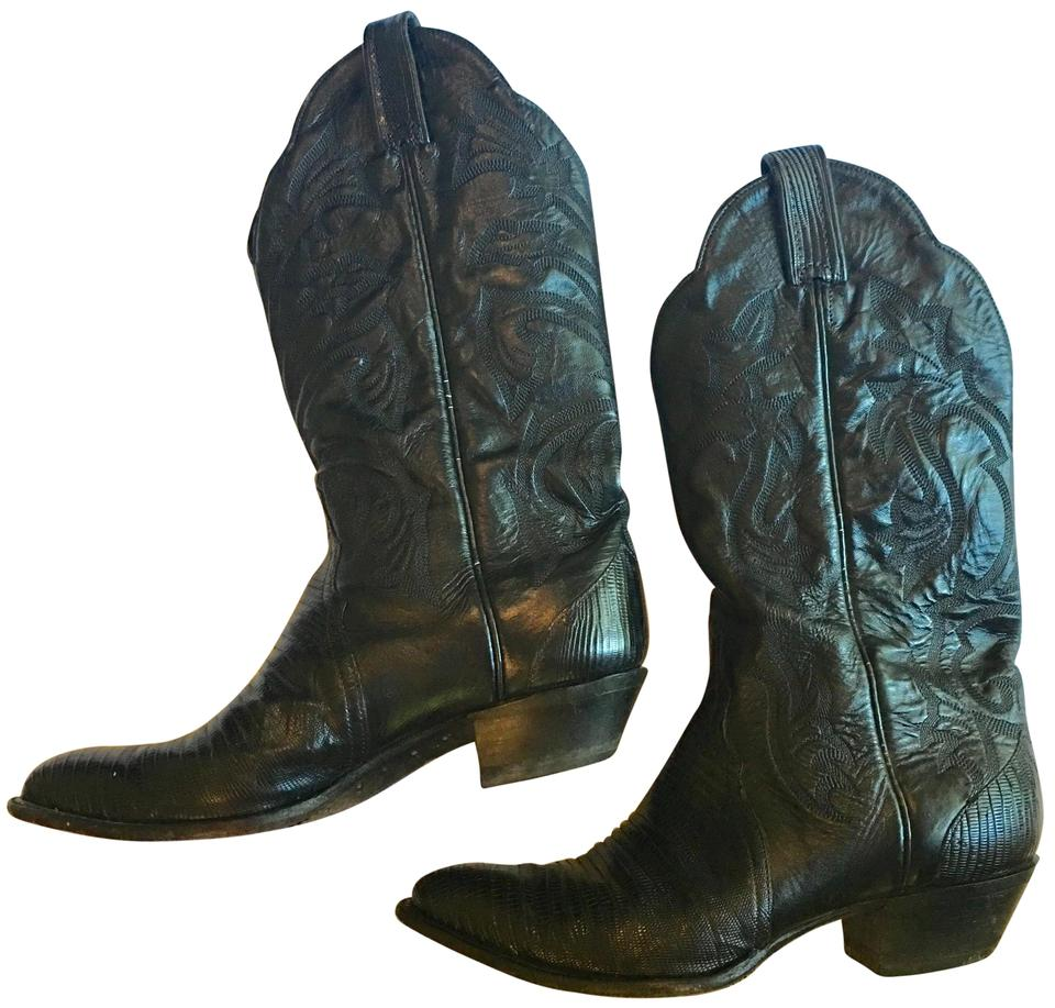 5861d695180 Tony Lama Black 1267 Vintage Intricate Detail All Leather Cowboy  Boots/Booties Size US 9 Regular (M, B)