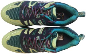Brooks Trail Cushion Support Distance Running Blue and green Athletic