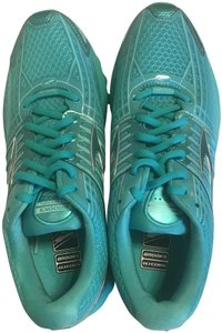 Brooks Running Distance Cushion Neutral Monochrome Teal Athletic