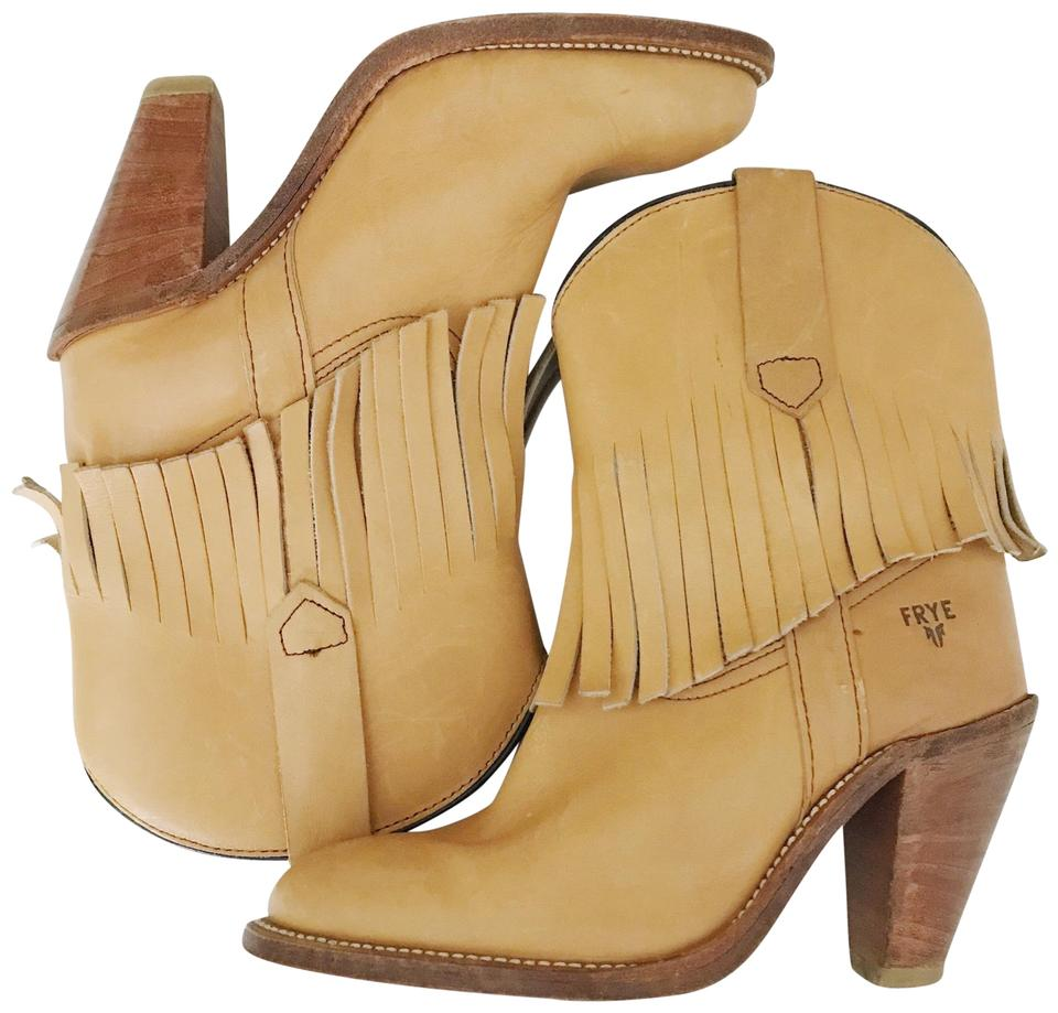 Ladies Frye Beige Vintage good Fringe Boots/Booties Known for its good Vintage quality be6063