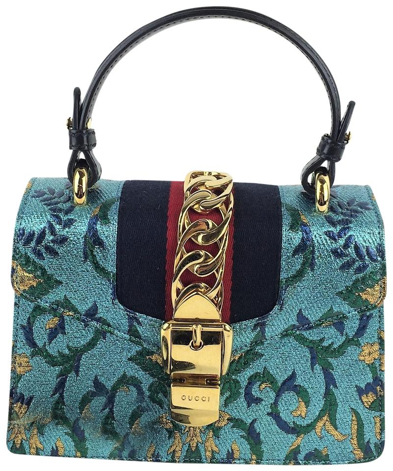 c3f5aa1aa4273 Gucci Sylvie Mini Brocade Multi-color Leather Cross Body Bag - Tradesy