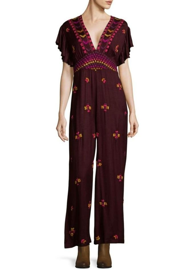 ee361c184259 Free People Cleo Embroidered Romper Jumpsuit - Tradesy