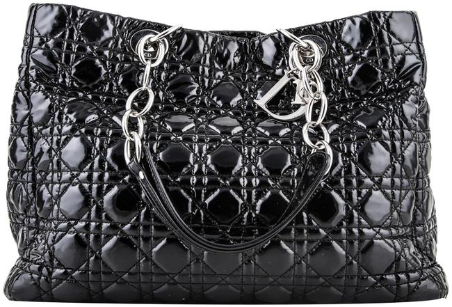 Item - Shopping Soft Black Patent Leather Tote