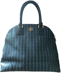 Tory Burch Dome Satchel in Blue/ Teal/ Green