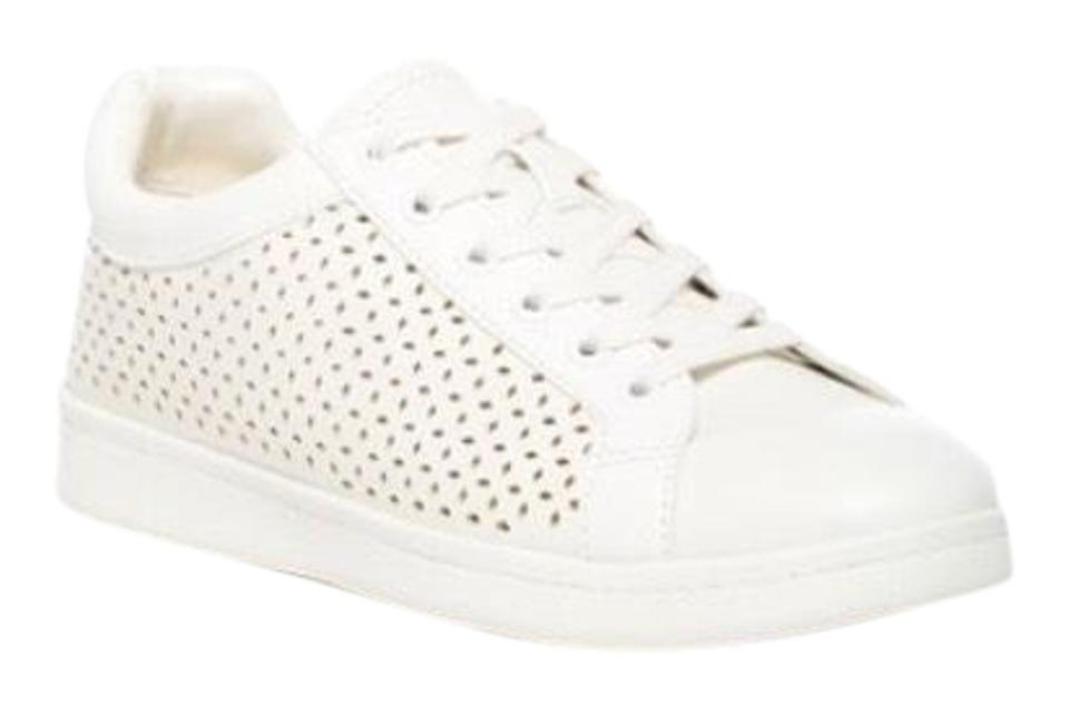 a3b25d567c32d Circus by Sam Edelman White Perforated Faux Leather Stylish Sneakers ...