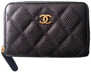 Chanel Brand New Chanel black caviar zippy coin purse