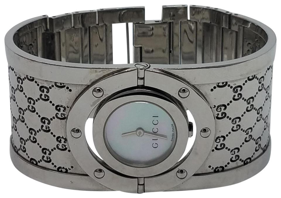 999caf51c86 Gucci Silver Stainless Steel 24mm Twirl Watch - Tradesy