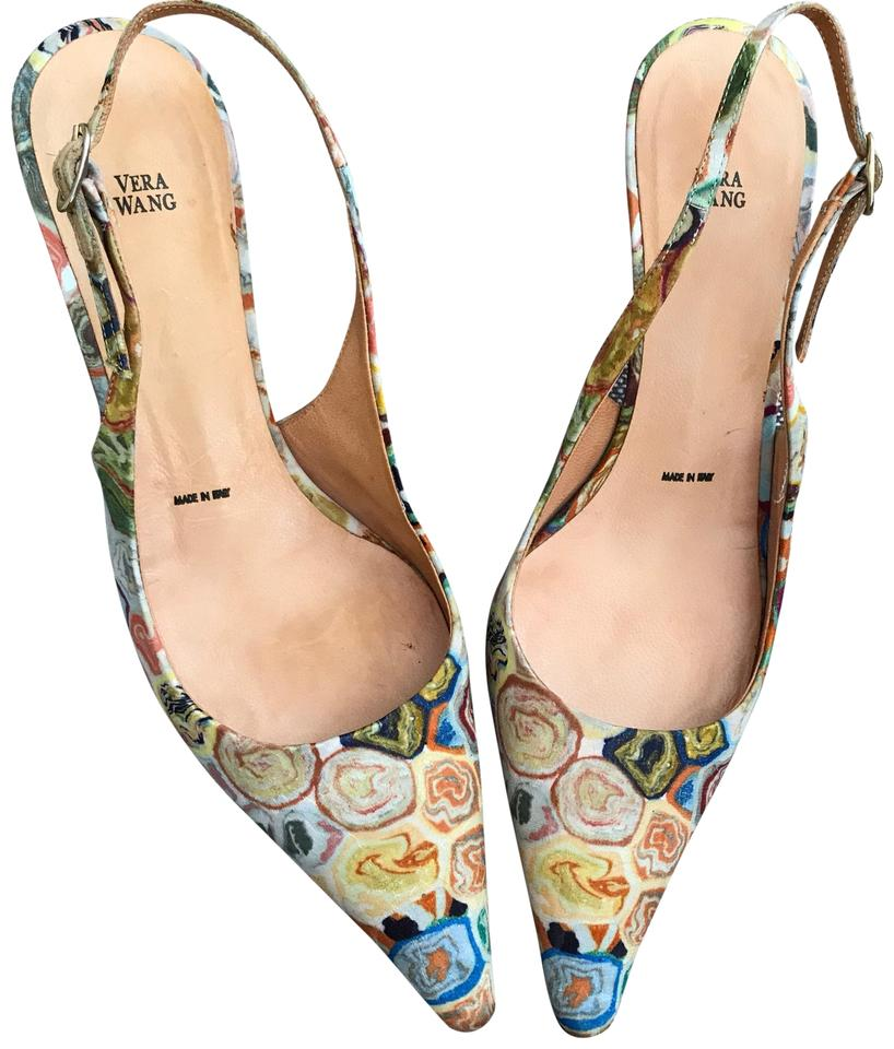 ac7ff58a14a55 Vera Wang Multicolor Vintage Pointed Toe Slingback Pumps Size EU 35.5  (Approx. US 5.5) Regular (M, B) 94% off retail