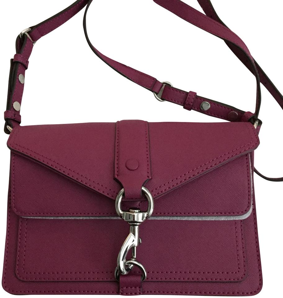 factory outlets best wide varieties Rebecca Minkoff Hudson Moto Mini Handbag Magenta Cowhide Leather Cross Body  Bag 9% off retail