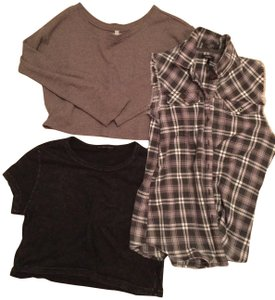 Urban Outfitters T Shirt Black and Gray