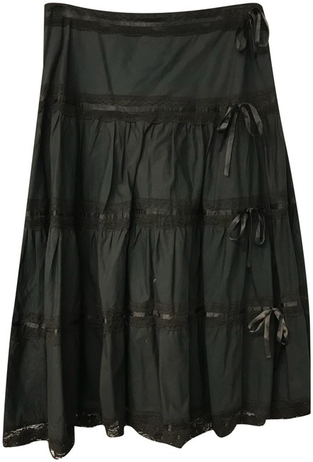 Item - Dark Brown And Lace Trim Skirt Size 8 (M, 29, 30)