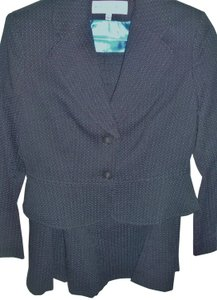 Jones New York tailored polka dot wall street business suit flair skirt fitted jacket