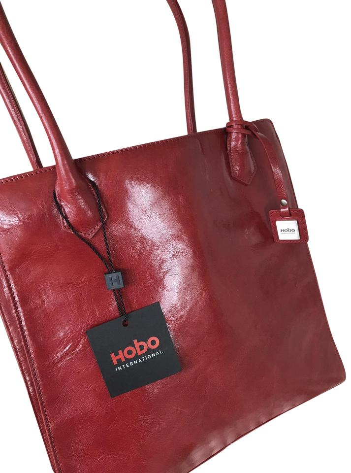 ffbaeb067548 Hobo International Beatrice Purse Tote Red Leather Shoulder Bag ...