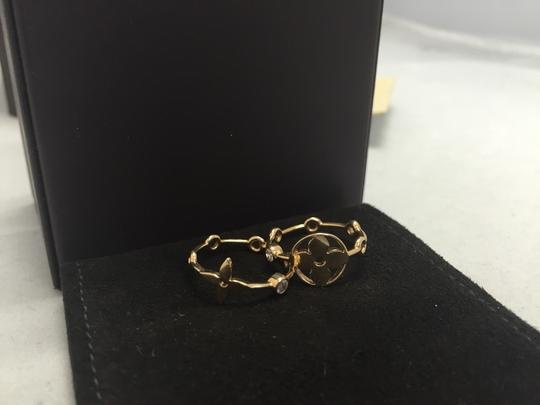 Louis Vuitton Louis Vuitton 18k Yellow Gold With Diamonds Monogram Stackable Rings Size 5.5