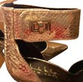 Nicole Miller New Size 5.5 Snake Ankle Strap Buckle NIB--Snake Skin TurnBuckle Pumps Image 1
