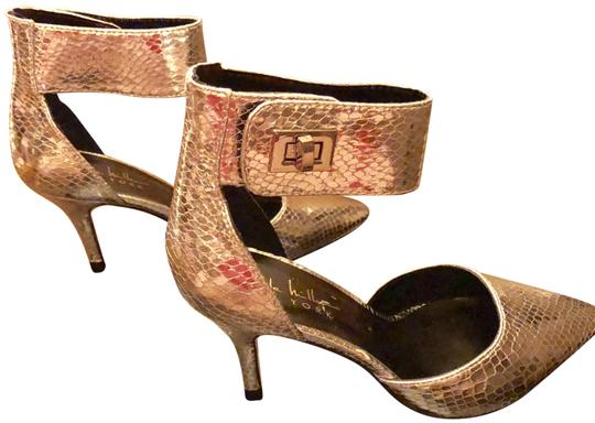 Nicole Miller New Size 5.5 Snake Ankle Strap Buckle NIB--Snake Skin TurnBuckle Pumps Image 2