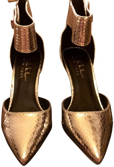 Nicole Miller New Size 5.5 Snake Ankle Strap Buckle NIB--Snake Skin TurnBuckle Pumps Image 3