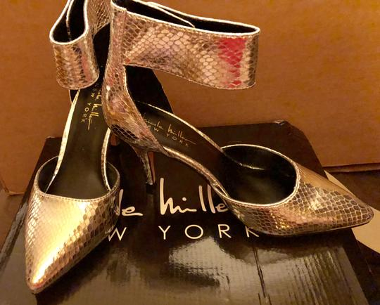 Nicole Miller New Size 5.5 Snake Ankle Strap Buckle NIB--Snake Skin TurnBuckle Pumps Image 5