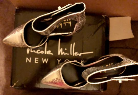 Nicole Miller New Size 5.5 Snake Ankle Strap Buckle NIB--Snake Skin TurnBuckle Pumps Image 8