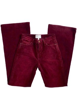 Current/Elliott Corduroy Red Flare Leg Jeans-Medium Wash